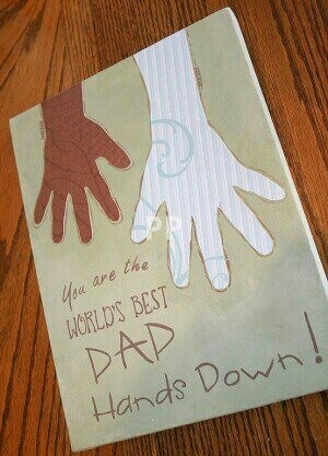Father's Day craft idea...a book to put a picture of dad/son on each Father's Day until son's 18th bday