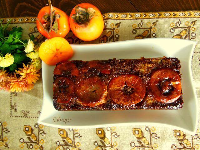 Моето сладко хоби: Обърнат сладкиш с райска ябълка и карамел