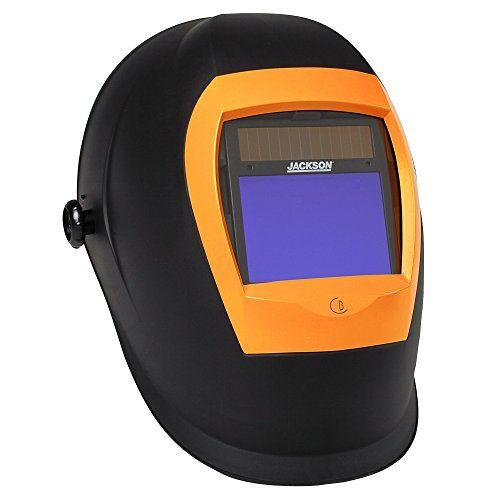 Jackson Safety BH3 Auto Darkening Welding Helmet with Balder Technology (37191), WH70, Black/Orange #DIY