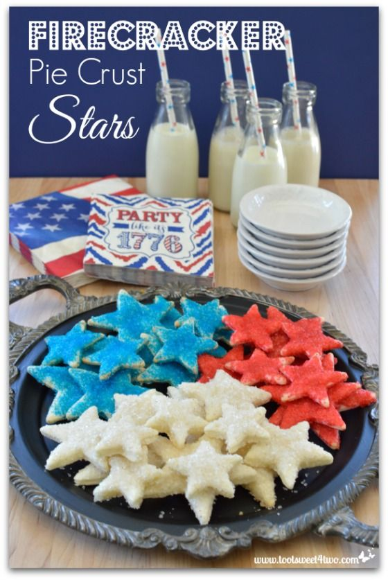 Firecracker Pie Crust Stars