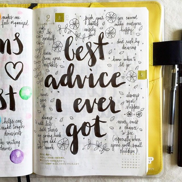 Day 2 of the #listersgottalist challenge: the best advice I ever got. #Hobonichi…