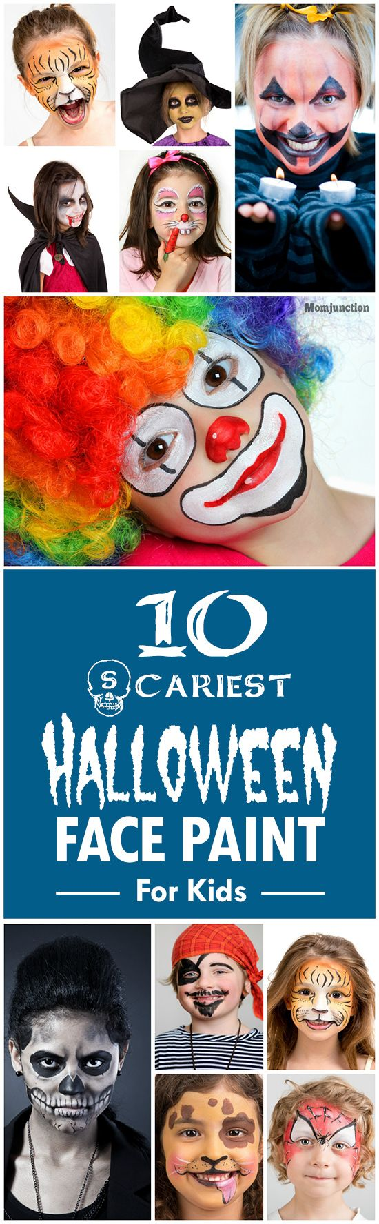 10 Scariest Halloween Face Paint For Kids