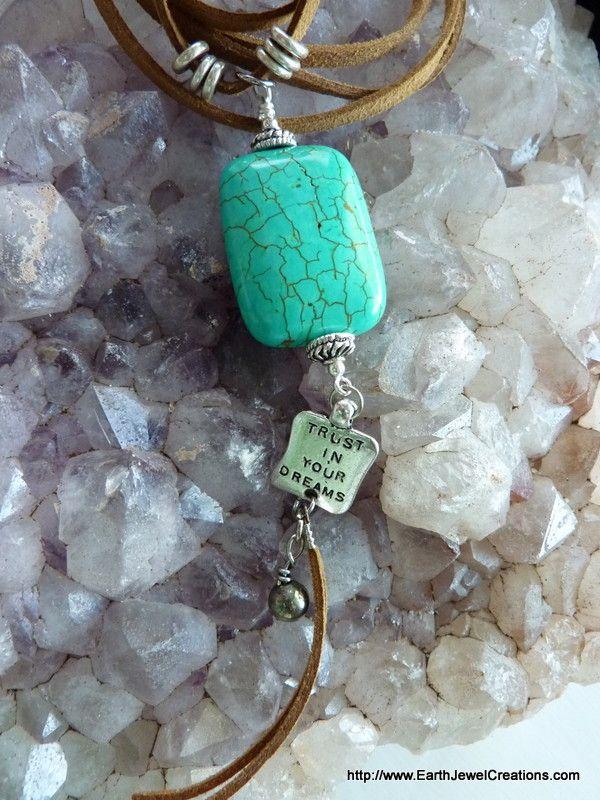 "Turquoise ""Clarity"" Pendant - handmade crystal energy gemstone jewellery Earth Jewel Creations Australia"