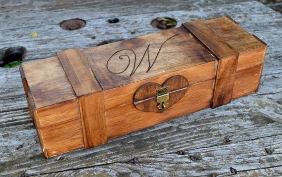 Wine Box!    This listing includes a personalized wine box/wedding capsule. The engraving featured on the top is totally customizable and can