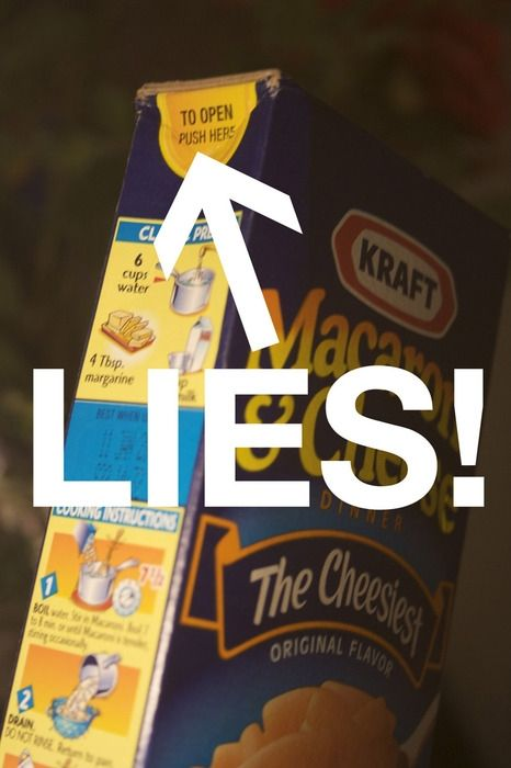 lies!!!Mac Cheese, Macaroni And Chees, Mac N Cheese, Boxes, Truths, So True, Funny Stuff, Knives, True Stories