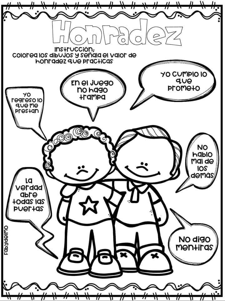 Tareitas Honradez Honestidad Para Ninos Educacion De Valores Educacion Emocional Infantil