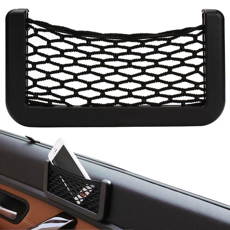 Nieuwe Auto Opslag Netto Automotive Pocket Organizer Bag Voor Gsm-houder Auto Pouch Adhesive Vizier Doos Auto-accessoires
