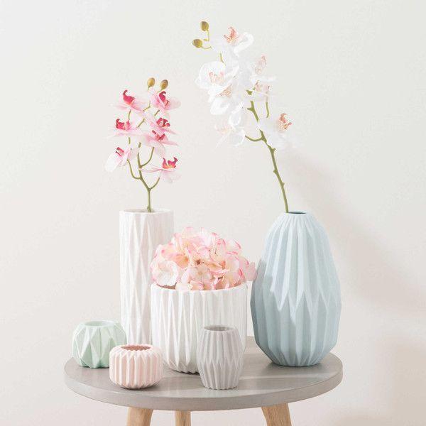 Vase aus Keramik, grau, H 9 cm, …