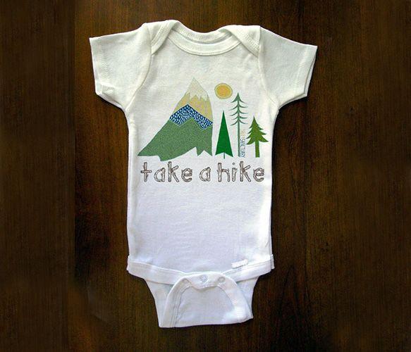 Take A Hike Onesie T-Shirt, Hiking Onesies, Baby Baby,  Tees Shirts, Baby Onesies, Baby Hiking, Baby Style, Future Baby, Baby James
