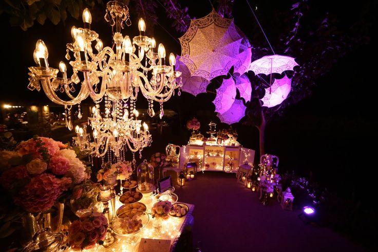 Antique Elegance Wedding!  #deplanv #crystal #chandeliers #theatrical #lighting #umbrellas  http://www.deplanv.com