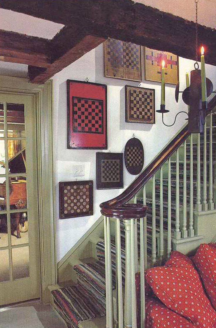 The gameboards on display right at the staircase makes this look like a fun place.