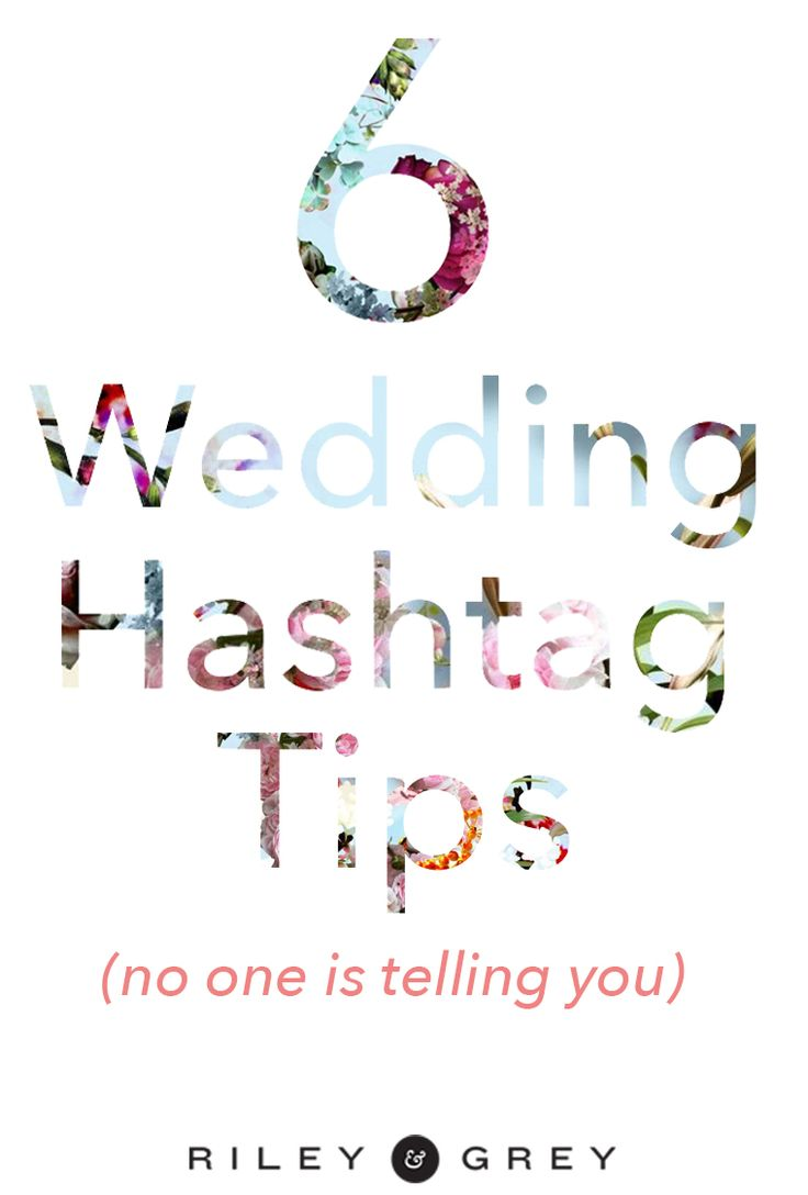 The dos and don'ts of using a wedding hashtag. (wedding website, wedding app, instagram)
