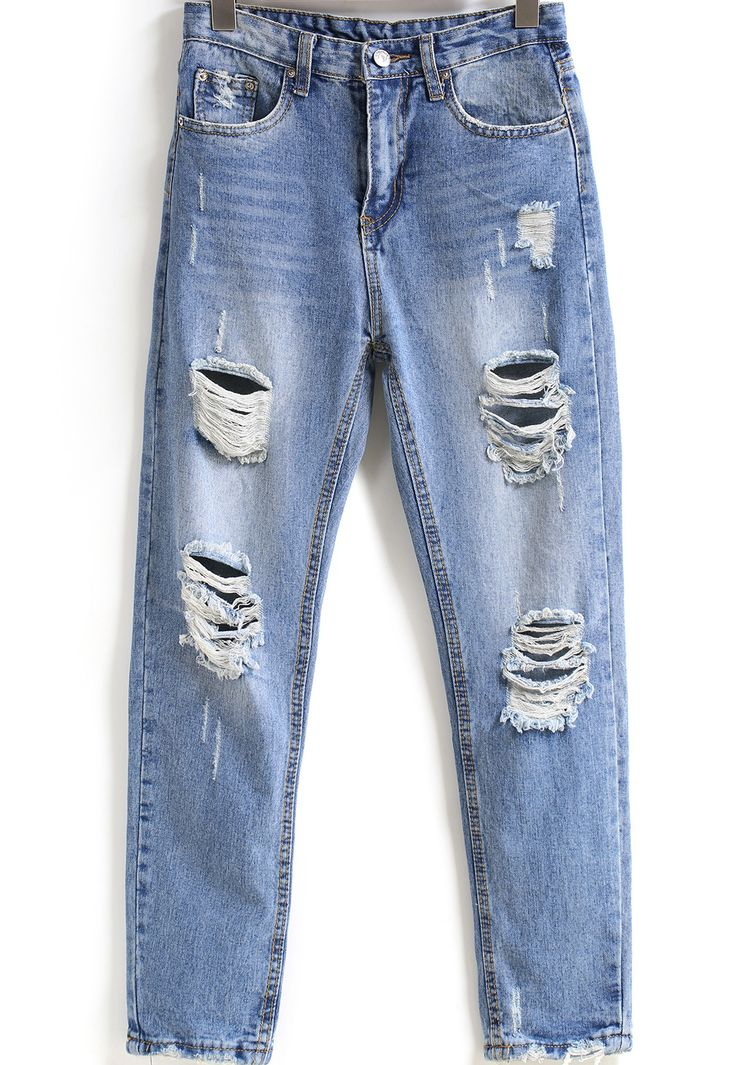 Pantalones vaqueros lavados bolsillos-azul 16.42
