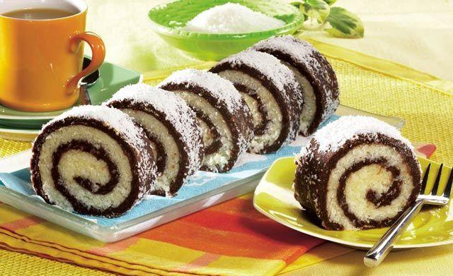 Kokos rolat - Zaista ukusan rolat prepun kokosa sa sočnim punjenjem. ~ Recepti i Ideje
