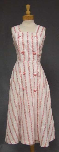 Vintageous, LLC - Rose Printed Cotton 1950's Wrap dress, $75.00 (http://www.vintageous.com/rose-printed-cotton-1950s-wrap-dress/)