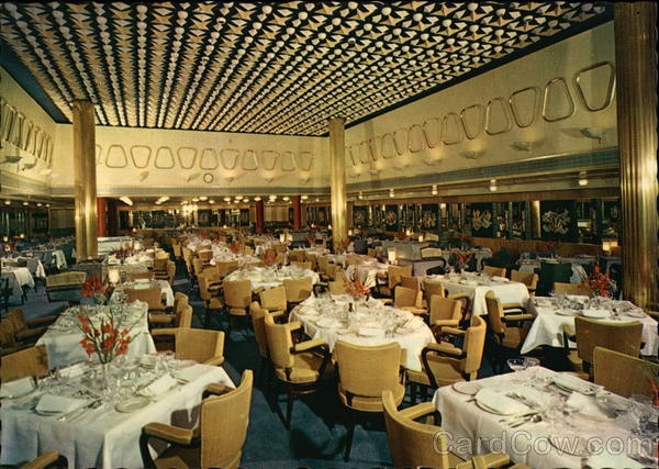 S.S. Rotterdam - Dining Room, Holland-America Line
