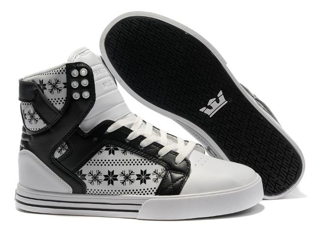 Supra Skytop Black Snowflake White Black Shoes. cheap supra shoes canada outlet store - www.24hshoesmall.com