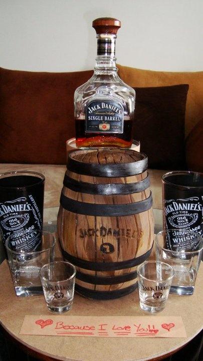 Jack Daniels cake!!https://sphotos-b.xx.fbcdn.net/hphotos-snc6/167945_180032922032165_5302354_n.jpg
