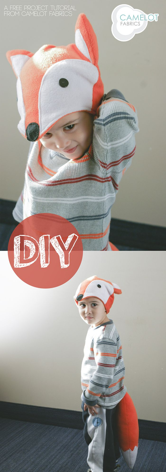 diy fox hat and tail tutorial