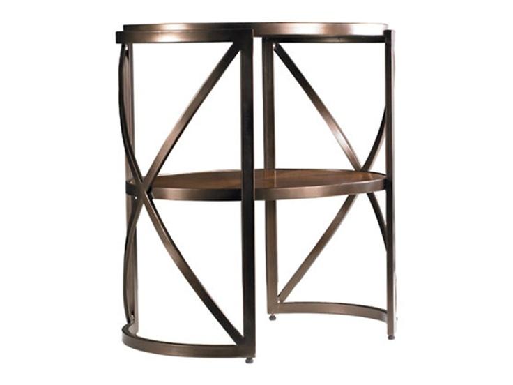 Stanley Furniture Living Room Oval Metal Lamp Table 816 65 12   Goodu0027s NC