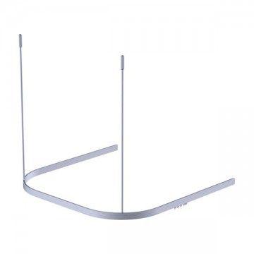 Tringle à rideau de douche « U » 80 x 80 x 80cm