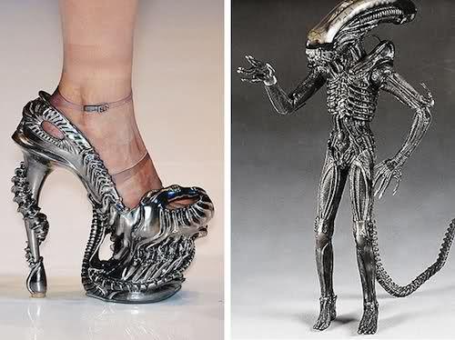 Weird..Alexander Mcqueen, Fashion, Hr Giger, Lady Gaga, Alexandermcqueen, Highheels, Hrgiger, High Heels, Aliens Shoes