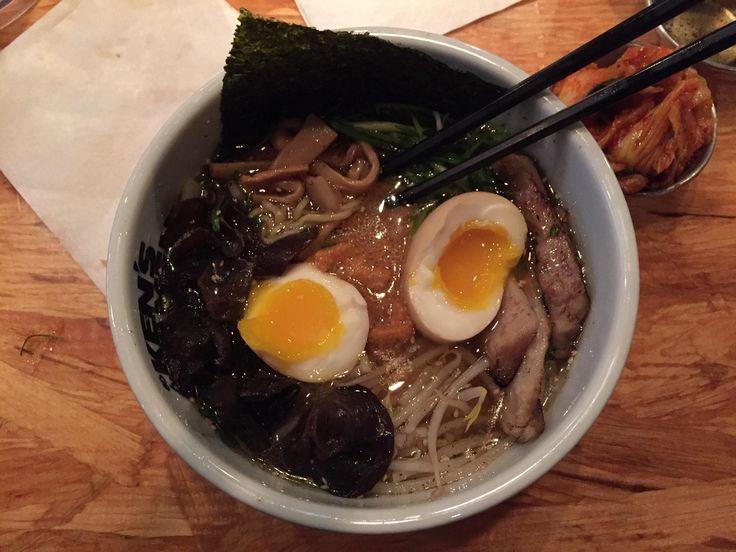 [I ate] sho-yu miso ramen from Kens Ramen in Providence RI