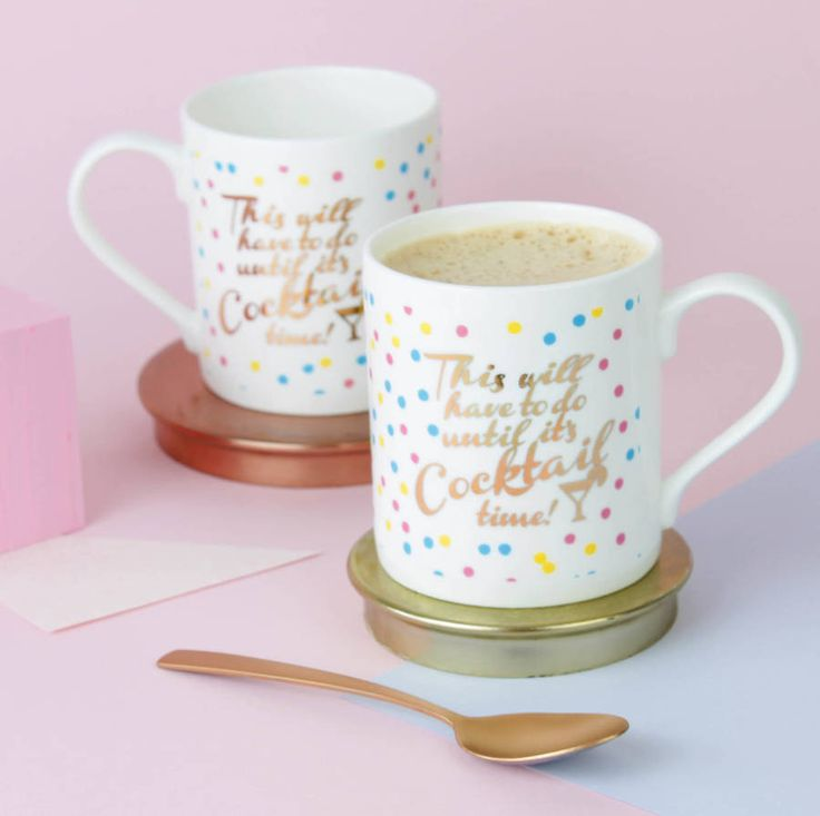 A stunning Cocktail themed mug with real Gold printed design on bone china.Please see our shop for our other cocktail gifts such as candles and lip balms.A perfect gift for you cocktail loving friend or family member. These beautiful mugs are made in Stoke-on-Trent from the finest bone china, printed with real gold on the front and back, they come wrapped in tissue and you can choose to have them packed in one of our branded gift boxes or just sent in an unsmashable box. You can arrange to…