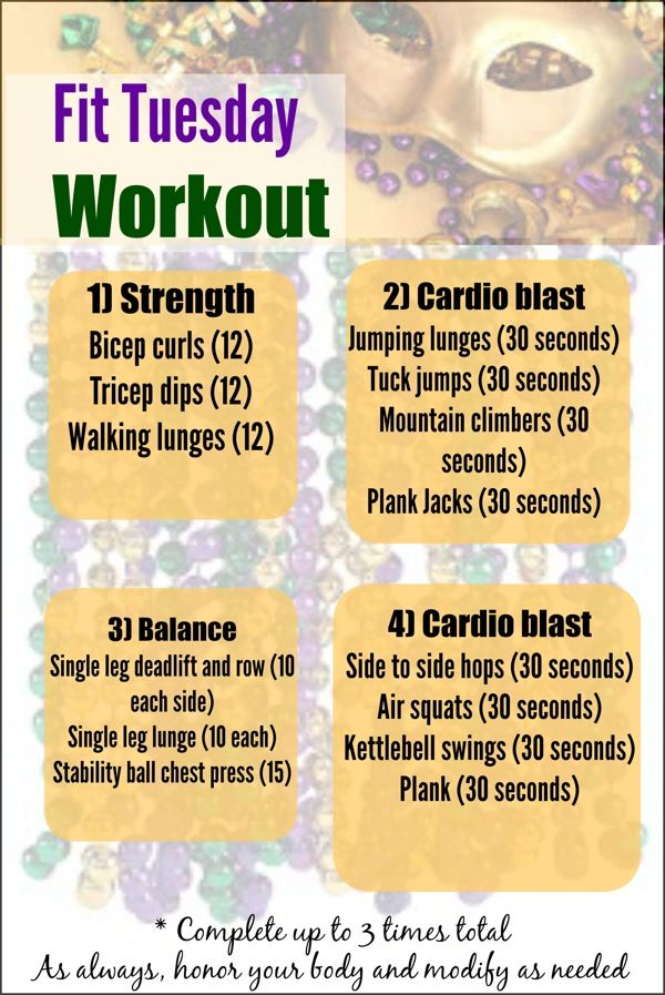 Fit Tuesday full-body strength, balance, and cardio blast!