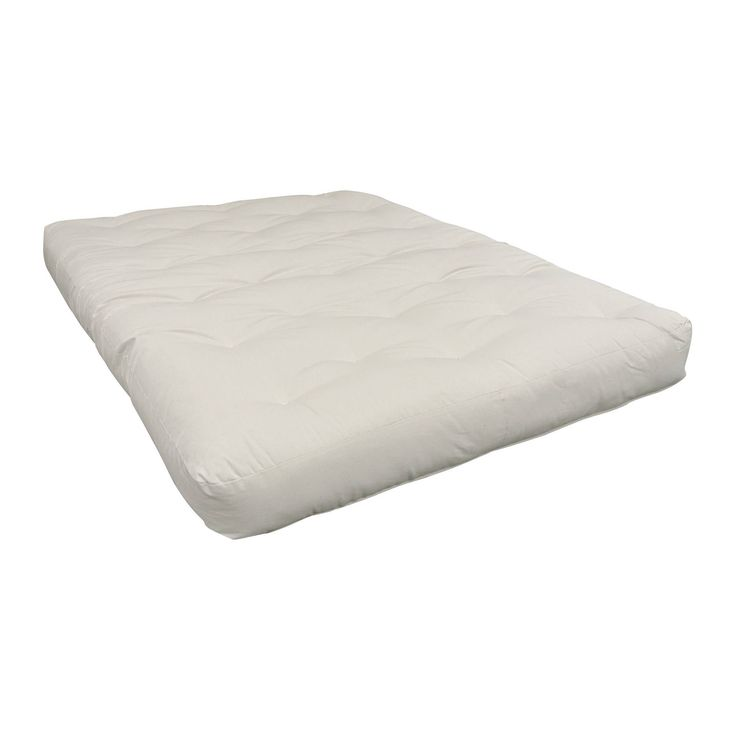 MoonLight Beige Cotton/ Foam 9-inch Twin XL Futon Mattress (Natural - Polyester Blend/Foam/Cotton - Foam - Twin XL - 9 Inch)