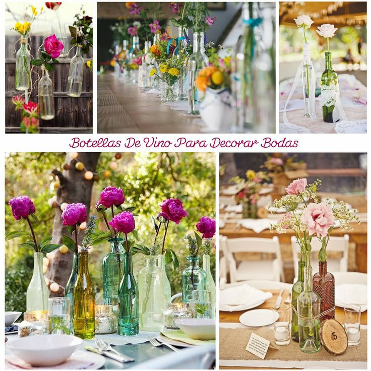 Blog de Organización de Bodas - Wedding Planner Madrid - Botellas de Vino Decoración Bodas