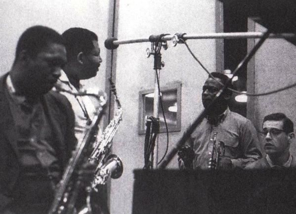 His personnel had become stable: alto saxophonist Cannonball Adderley, tenor saxophonist John Coltrane, pianist Bill Evans, long-serving bassist Paul Chambers, and drummer Jimmy Cobb. Description from perytondesign.com. I searched for this on bing.com/images