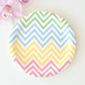 Let's Party With Balloons - Illume Design Pastel Chevron Snack Plates, $9.00 (http://www.letspartywithballoons.com.au/illume-design-pastel-chevron-snack-plates/?page_context=category