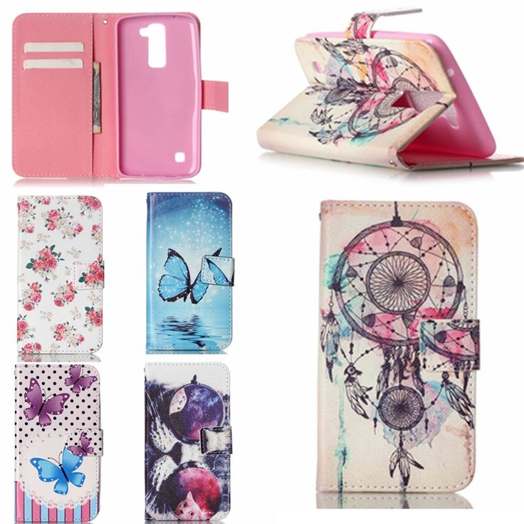 New Arrival! K7&K10 Case Fashion Painting PU Leather Case For LG K7 & LG K10 Case Flip Wallet Stand With Card Holder Cover