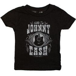 Johnny Cash Hello I'm Johnny Infant T-shirt- Great Band T-shirts, Hoodies, & Merchandise @ Band-Tees.com