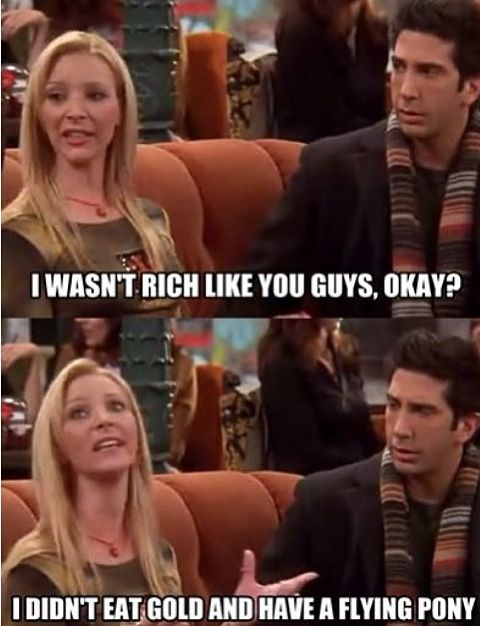 Phoebe and Ross Friends tv show  Funny quotes