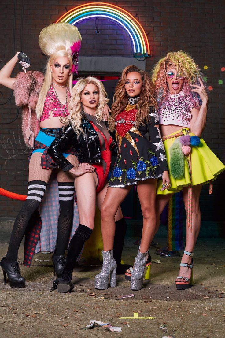 Jade Thirlwall With Willam And Alaska Thunderfuck 5000 And Courtney Act
