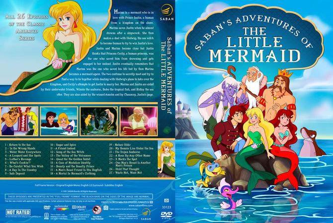 Sabans Adventures Of The Little Mermaid Dvd Custom Cover -8124