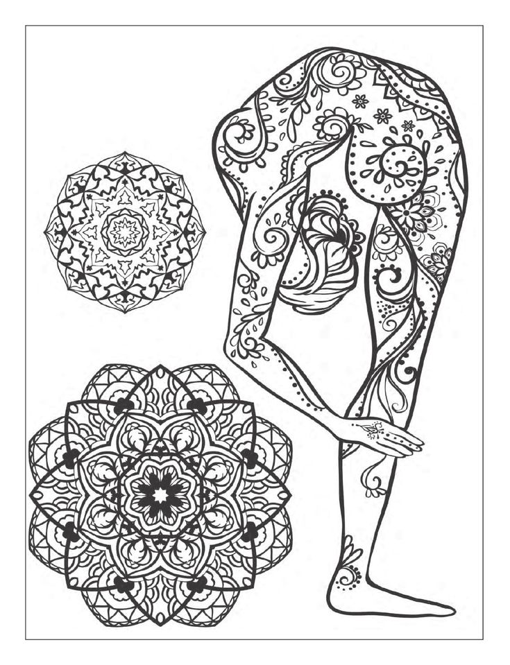 143 best images about coloring pages to print india on Yoga coloring book for adults