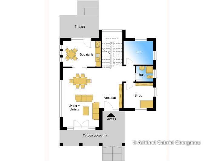 Proiecte de case cu etaj si terasa acoperita Two story house plans with covered patios 6
