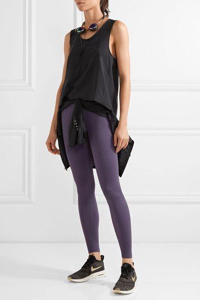 Dark-purple stretch-polyester Pull on Fabric1: 61% polyester, 39% spandex; fabric2: 70% polyester, 30% spandex; fabric3: 81% polyester, 19% spandex Machine wash
