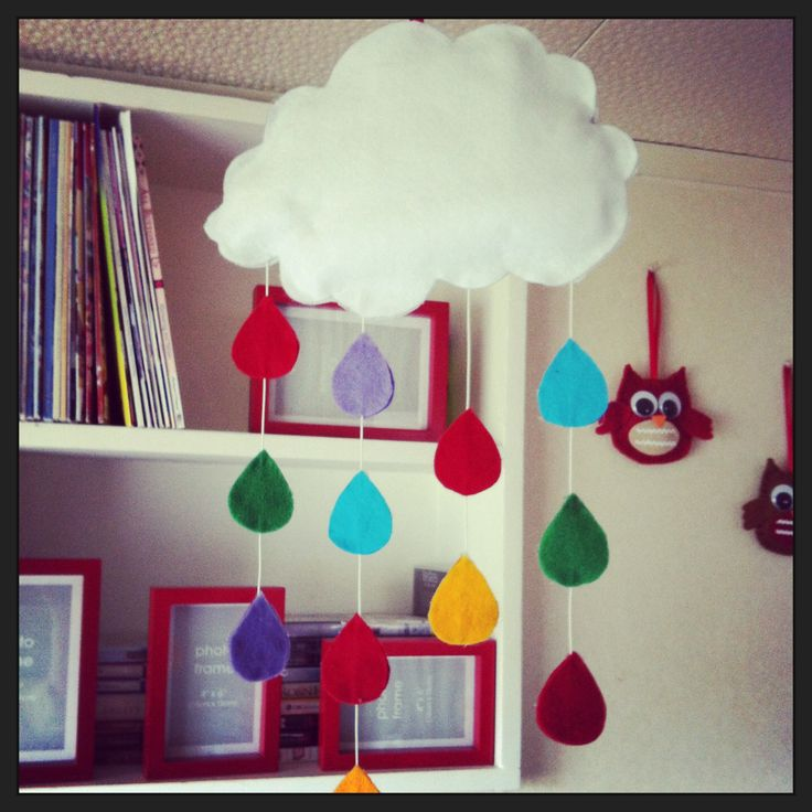 Cloud mobile made for Finn's room, above his change table