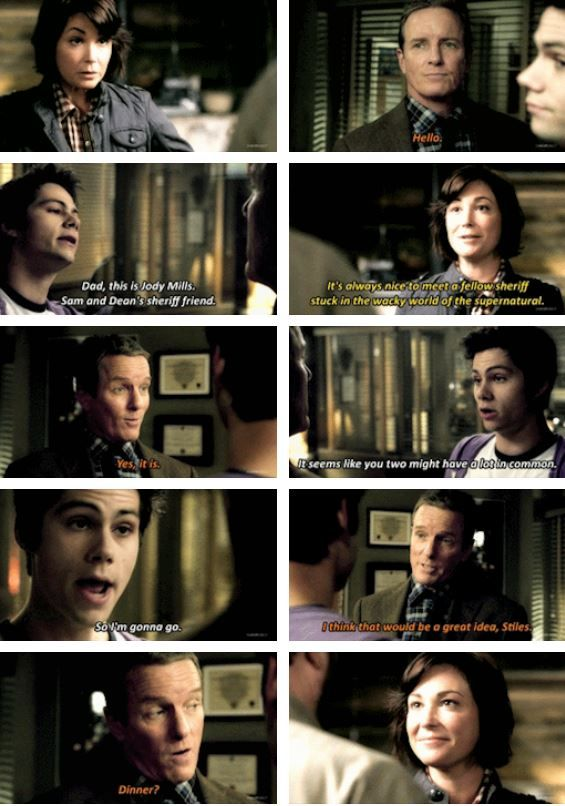 I ship these two so hard!!! Supernatural & Teen Wolf Crossover │Sheriff Stilinski & Jody Mills