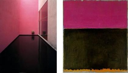 Barragan, Galvez House, Mexico City, 1955.    Rothko, Untitled, 1953: Galvez Houses