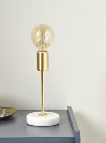 Lampe de chevet Doré et marbre - CyrillusLampe de chevet Doré et marbre - Cyrillus