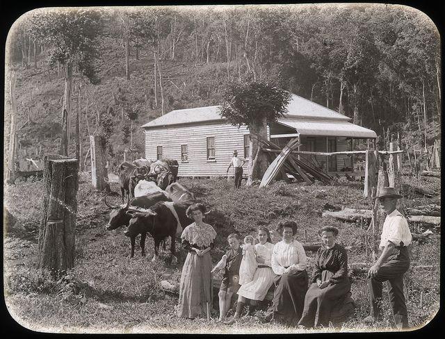 A settler's home, N.S.W. Australia