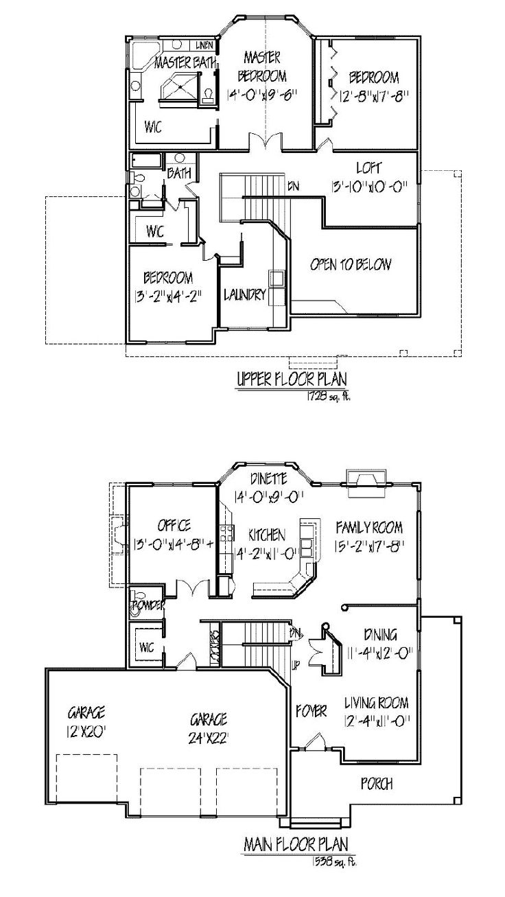 1000 ideas about two story houses on pinterest Two story house floor plans