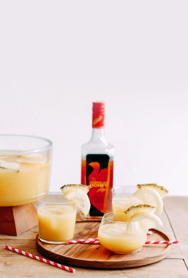 Sweet and spicy Pineapple Punch Recipe.