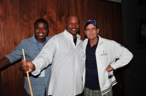 Joe and Mr charlie sheen for the Joe Carter Classic Golf Tournament with Love This City TV