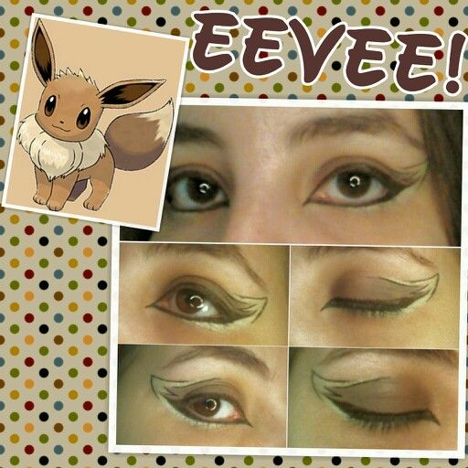 I had a great idea to do eye make up looks based on my favorite Pokemon Eevee and it's Eeveelutions. Here's the first one lol!